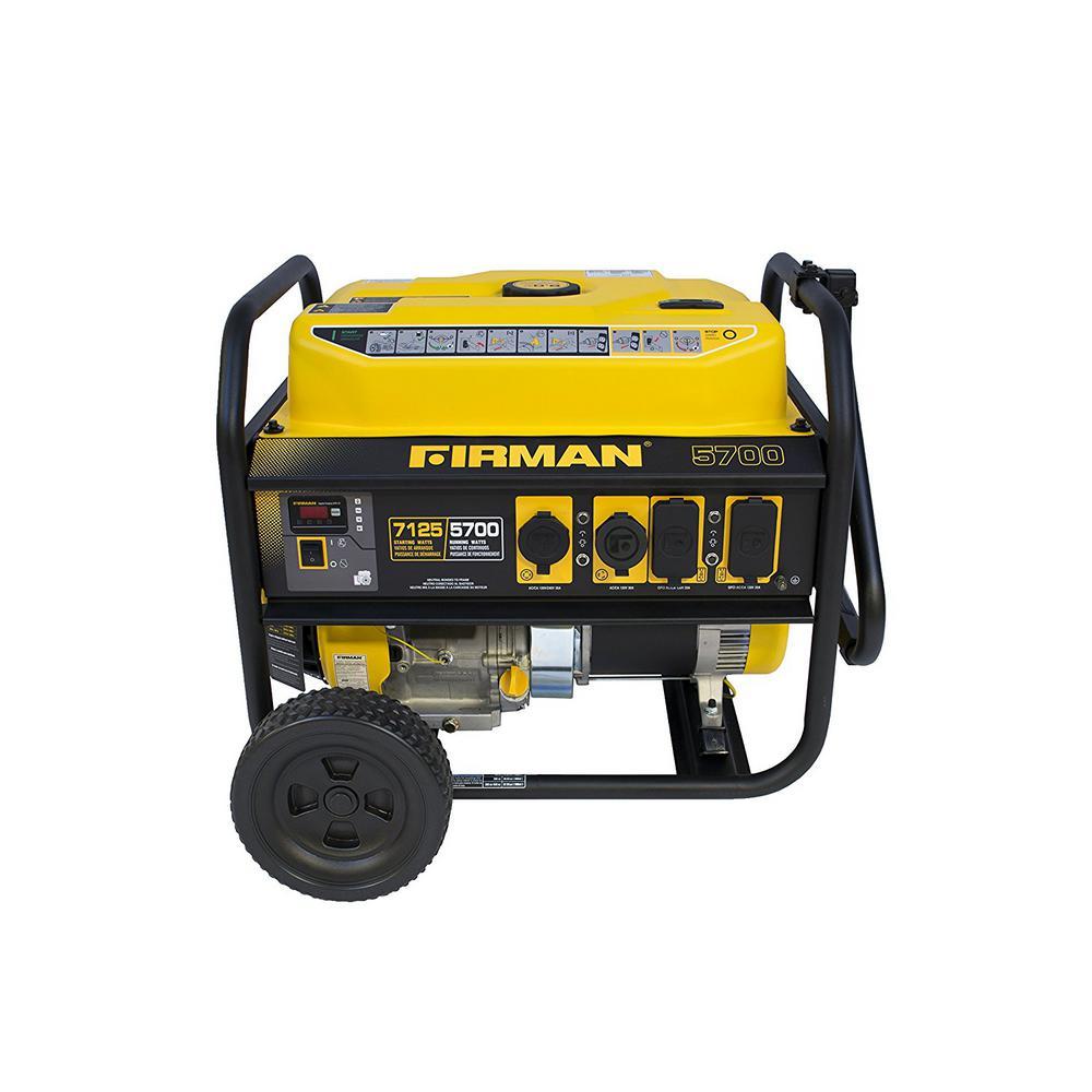Performance 7100/5700-Watt Gas Powered Extended Run Time Portable Generator