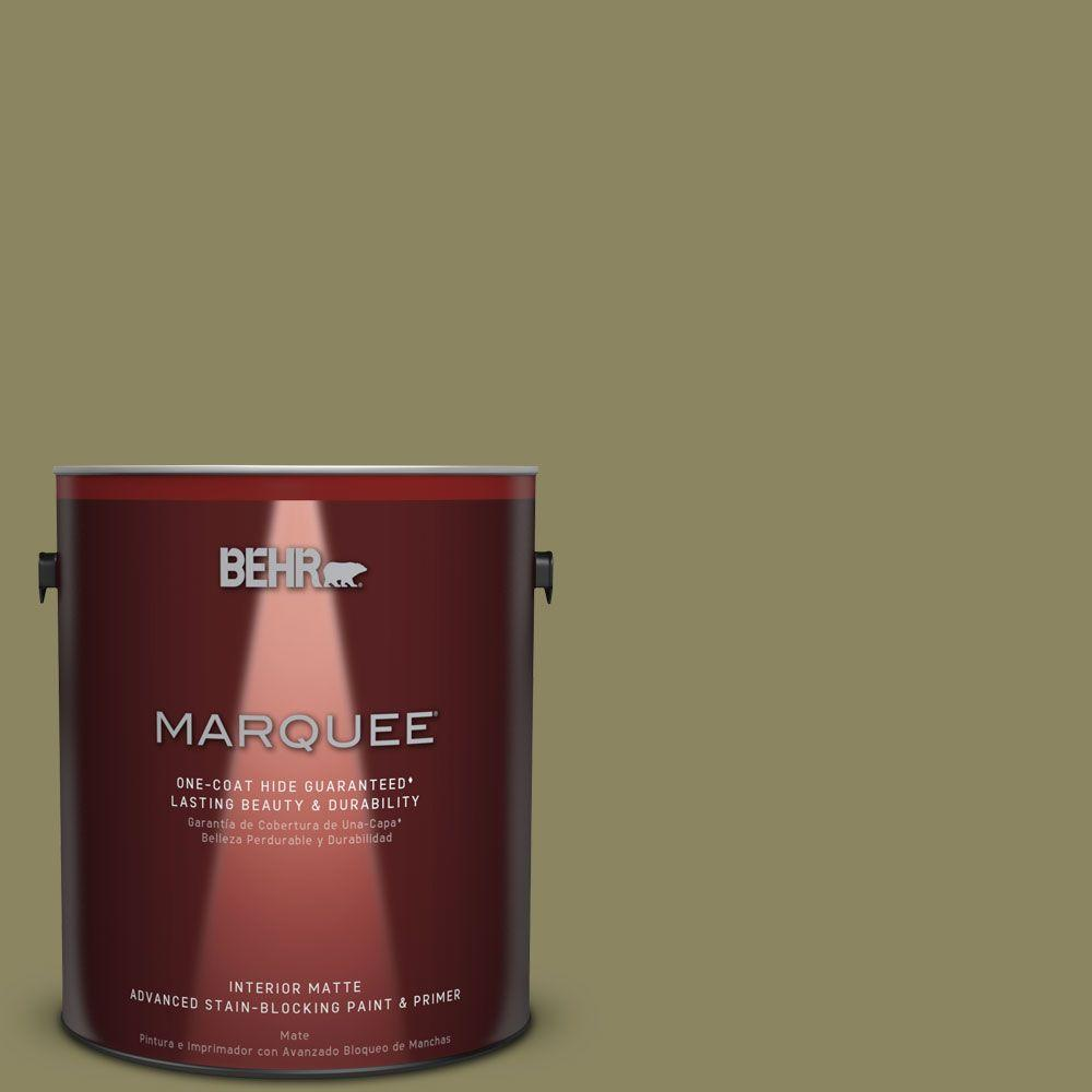 1 gal. #S350-5 Green Scene One-Coat Hide Matte Interior Paint