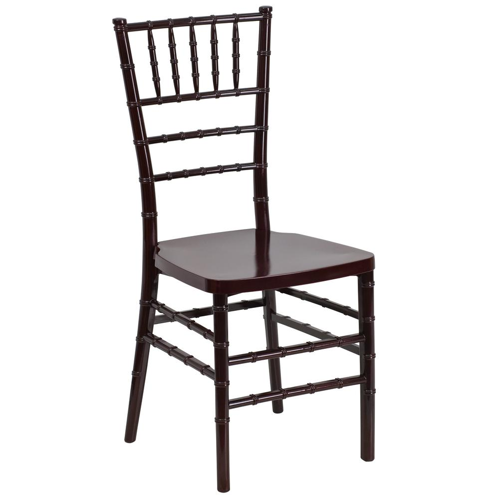 Superieur Flash Furniture Hercules Premium Series Mahogany Resin Stacking Chiavari  Chair