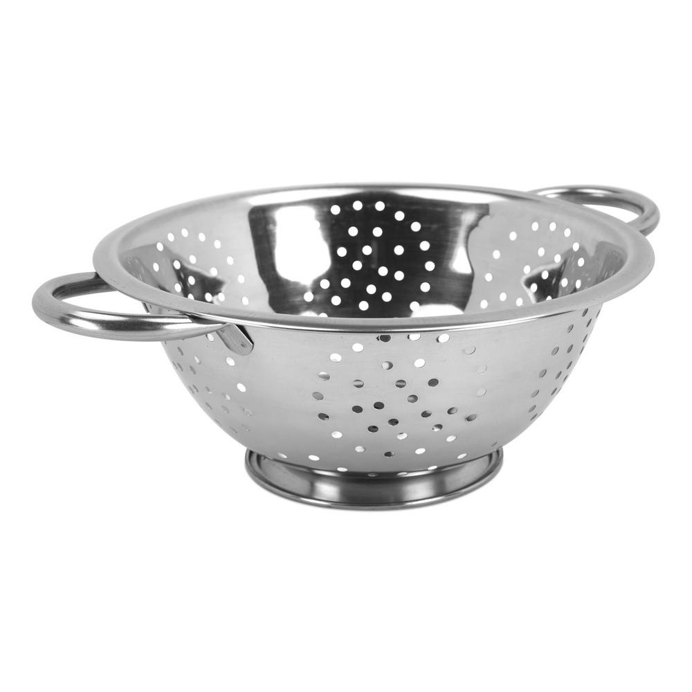 Home Basics Stainless Steel Colander Dc01050 The Home Depot