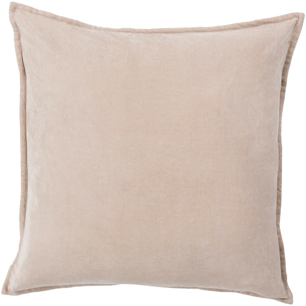 Velizh Brown Solid Polyester 20 in. x 20 in. Throw Pillow