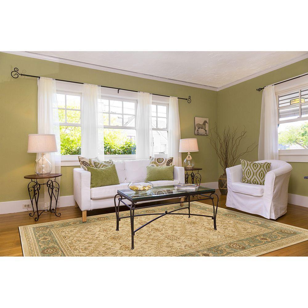 Home Dynamix Monroe Cream/Green 1 ft. 11 in. x 7 ft. 2 in. Indoor Rug Runner