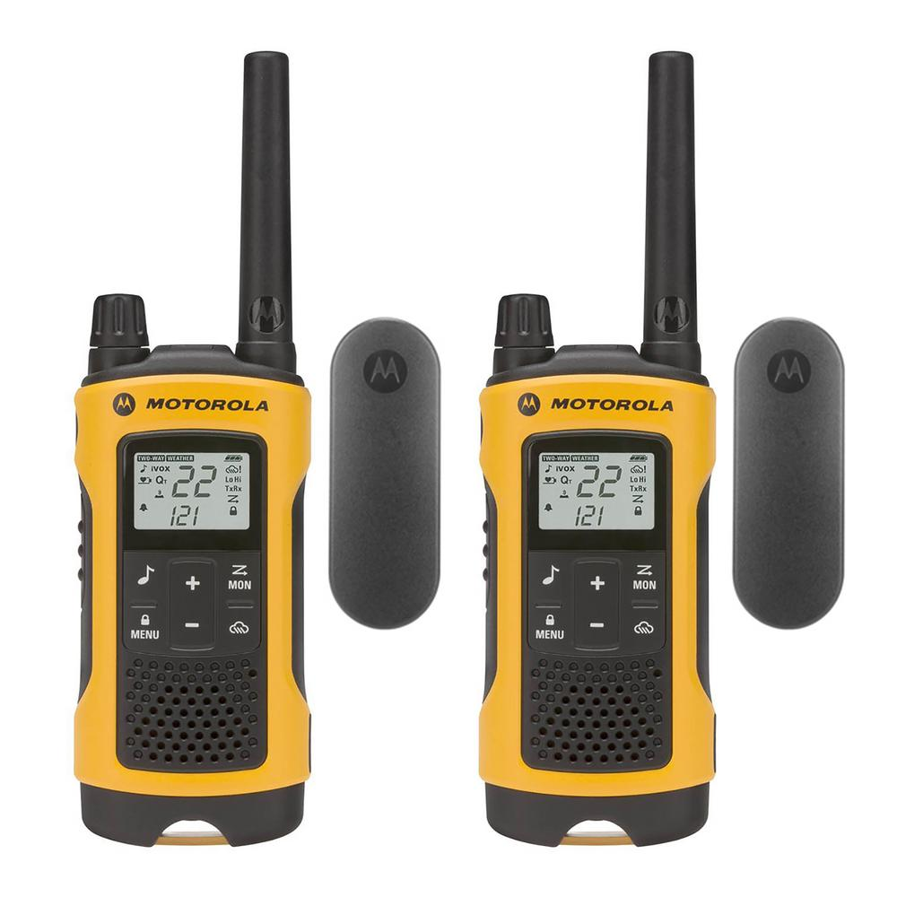 13cfedcef Motorola Talkabout Rechargeable 2-Way Radios (2-Pack)-T402 - The ...