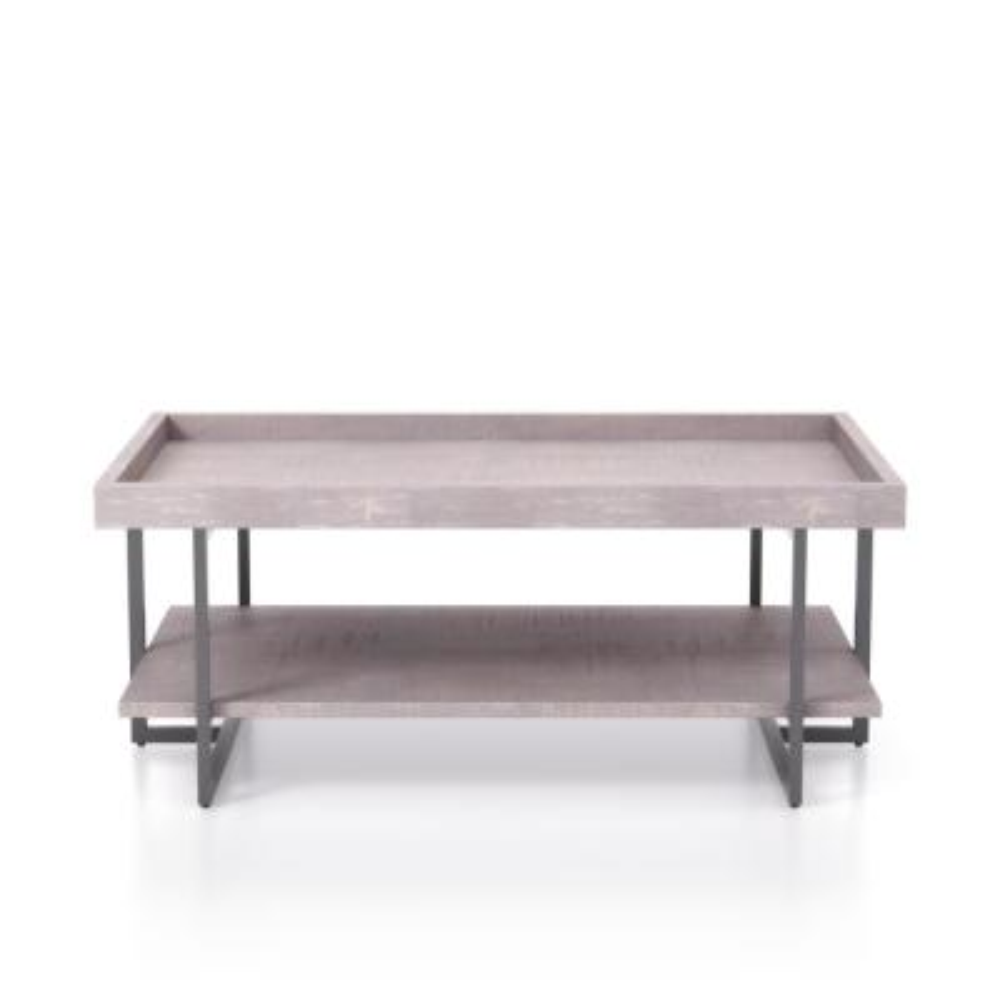 Triblisi 18.5 in. H Gray and Gun Metal Coffee Table