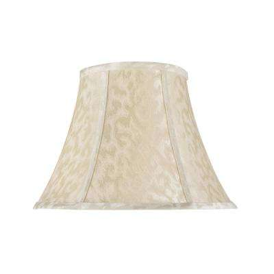 13 in. x 9.5 in. Off White Bell Lamp Shade