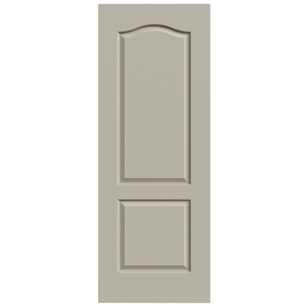 JELD-WEN 36 in. x 80 in. Princeton Desert Sand Painted Smooth Solid Core Molded Composite MDF Interior Door Slab