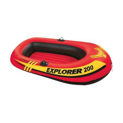 2-Person Red Inflatable Explorer Boat Float (1-Pack)