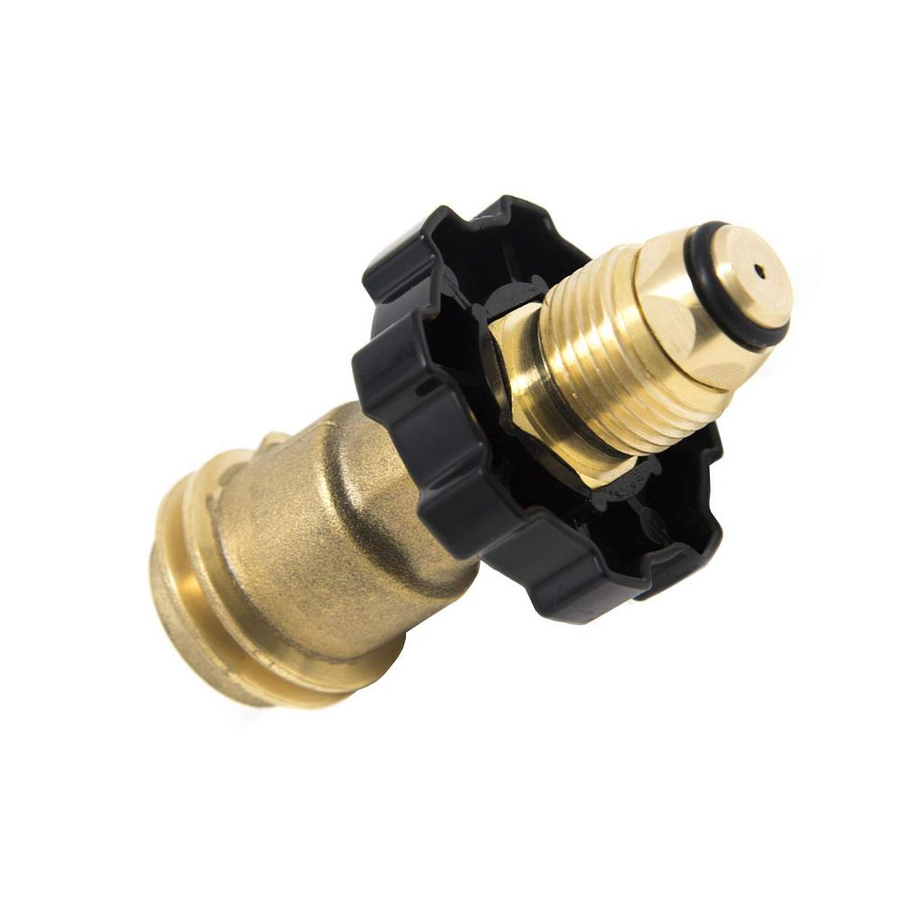 Outdoor Camper BBQ Cylinder POL To QCC1 Propane Tank Adapter Connector Valve