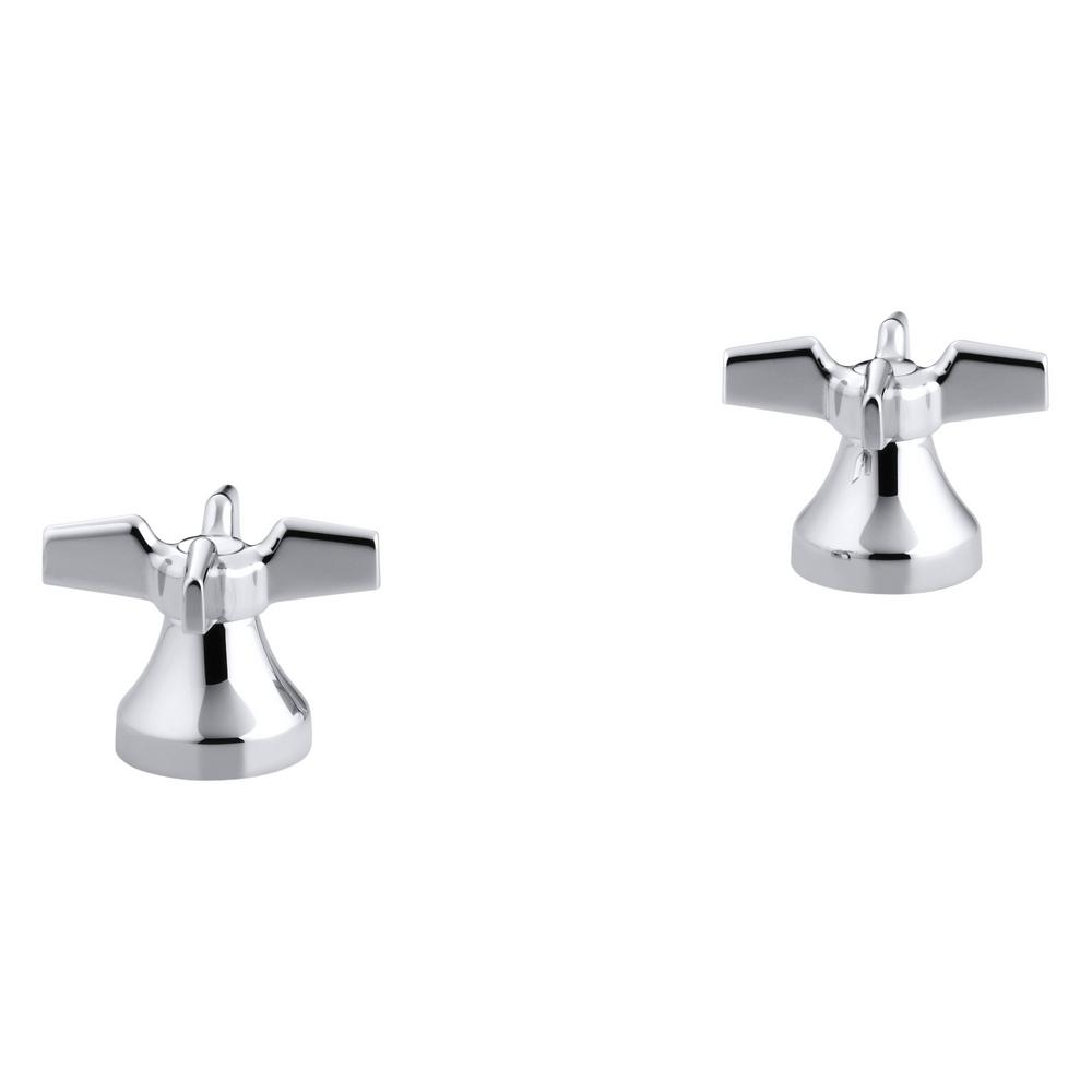 Kohler Triton Cross Handles in Polished Chrome (2-Pack)-K-16012-3 ...