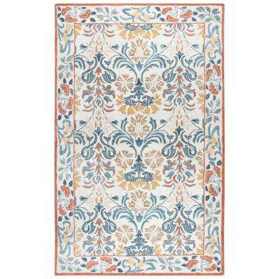 Opulent Multi Floral Hand Tufted Wool 9 ft. x 12 ft. Area Rug