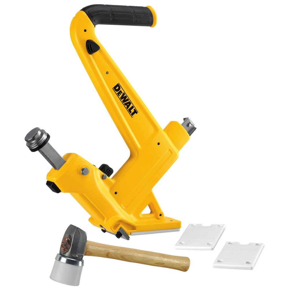 Dewalt 16 gauge manual hardwood flooring nailer dwmfn 201 for Floor nail gun