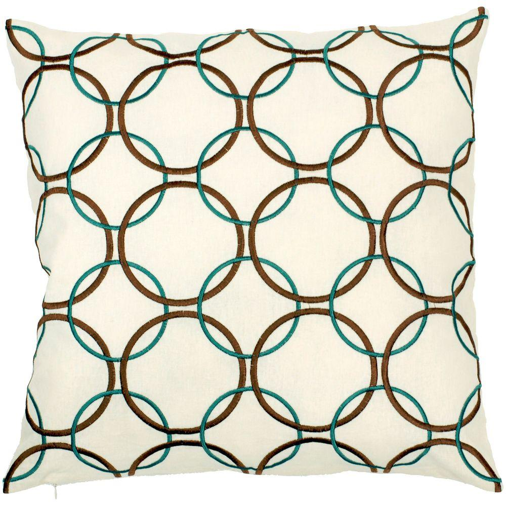 Artistic Weavers Links 18 in. x 18 in. Decorative Down Pillow-DISCONTINUED