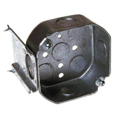 4 in. Octagon Box, 1-1/2 in. Deep with 1/2 in. KO's and J Bracket (50-Pack)