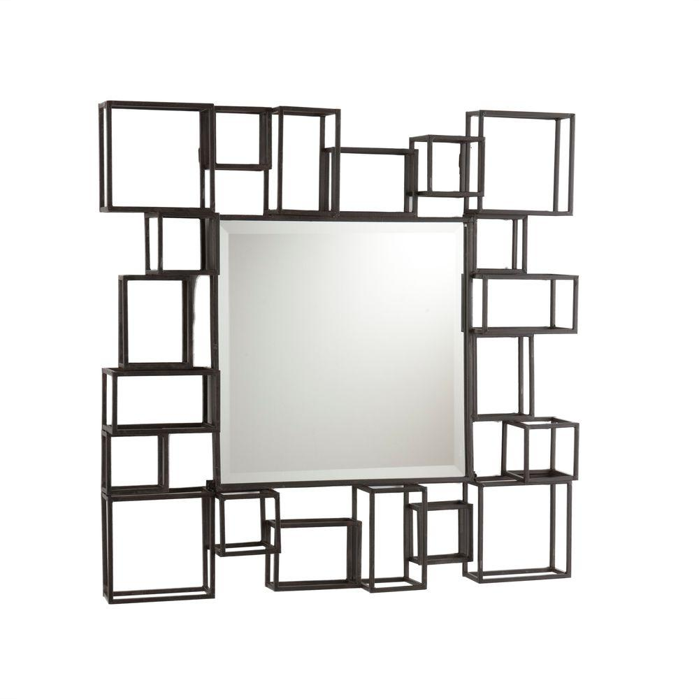 Southern Enterprises 32 in. x 32.25 in. Rectangular Decorative Framed Wall Mirror