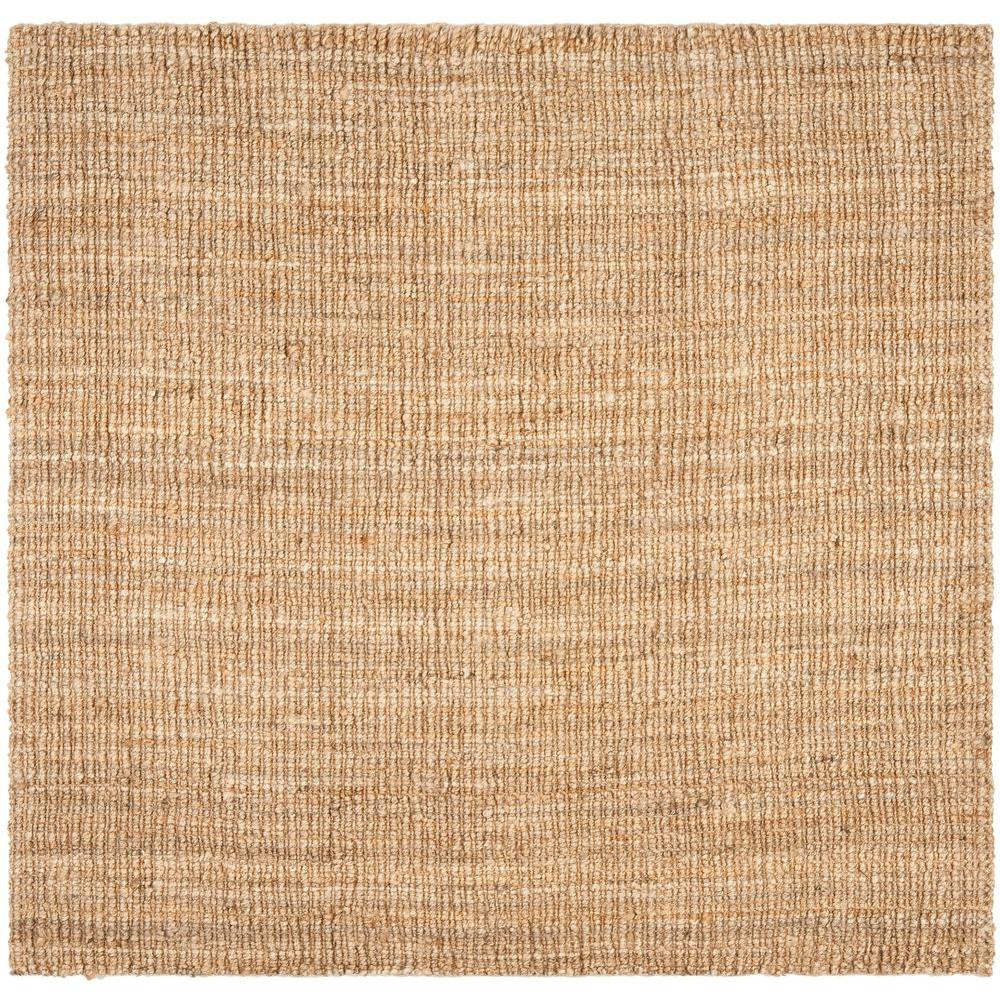 Safavieh Natural Fiber Beige 8 Ft X Square Area Rug Nf447a 8sq The Home Depot