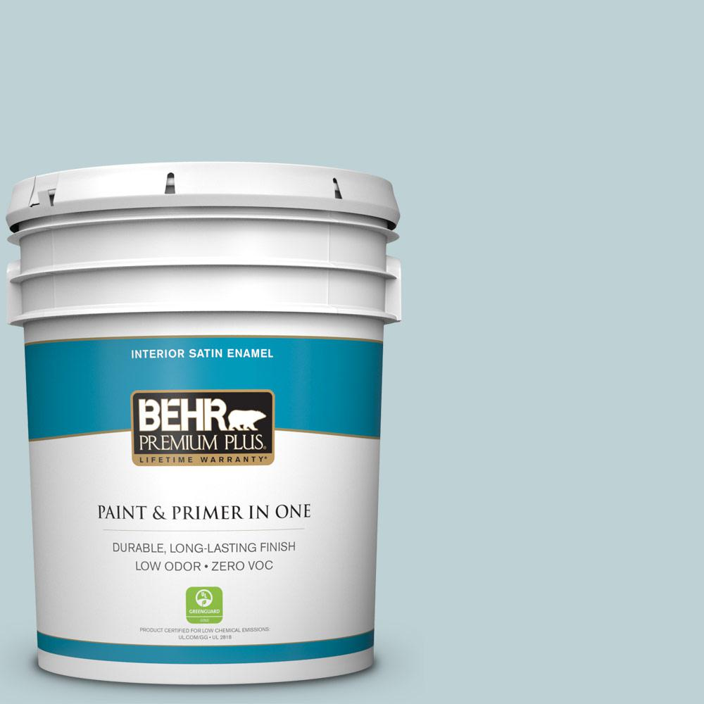 5-gal. #500E-3 Rain Washed Zero VOC Satin Enamel Interior Paint