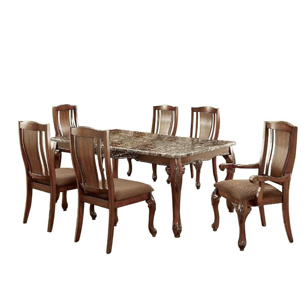 Johannesburg I Brown Cherry Table Set