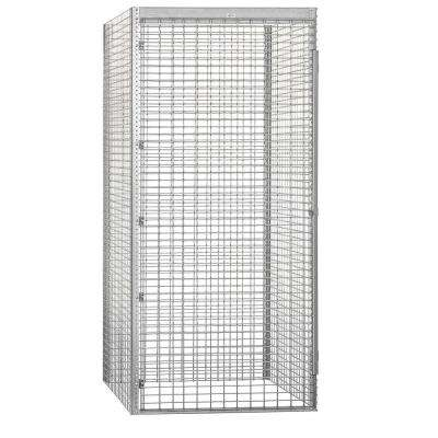 8100 Series 48 in. W x 90 in. H x 48 in. D 1-Tier Bulk Storage Locker Starter in Aluminum
