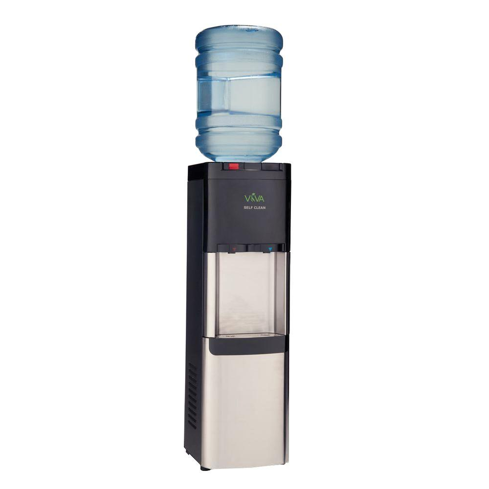 VIVA Self-Clean Stainless Steel Hot and Cold Water Cooler...