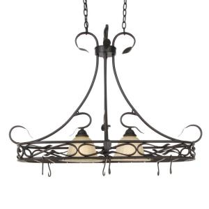 Kenroy Home Countryside 2-Light Royal Bronze Pot Rack by Kenroy Home