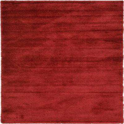 Luxe Solo Red 8 ft. x 11 ft. Area Rug