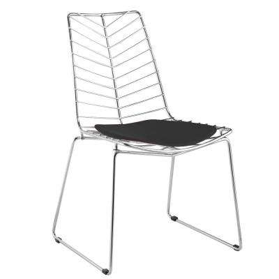 Black Wire Leaf Dining Chair