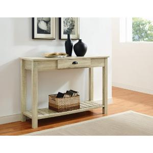 Walker Edison Furniture Company 48 In. Country Style Entry Console Table In  Natural HDF48CYETNT   The Home Depot