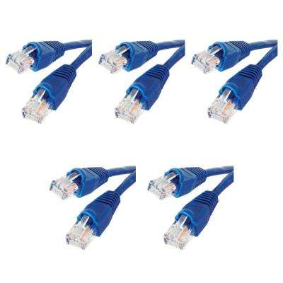3 ft. Cat5e UTP Ethernet Cable, Blue(5-Pack)