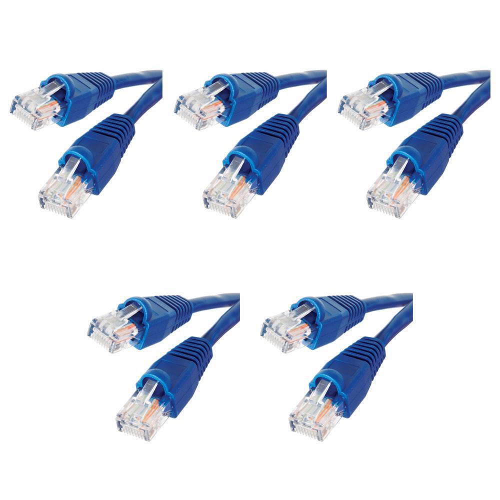 3 ft. Cat5e UTP Ethernet Cable, Blue(5-Pack)