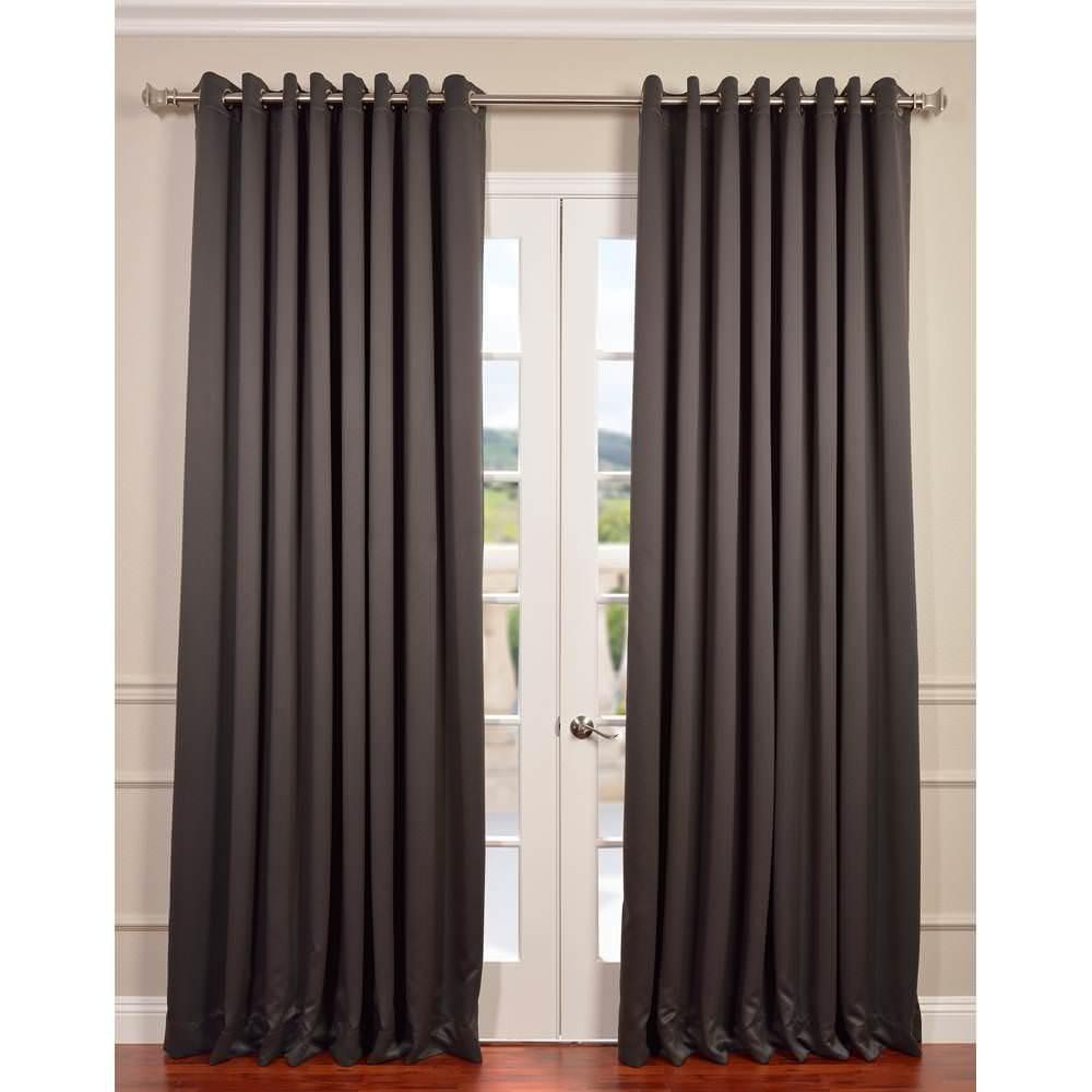 Do Blackout Curtains Wear Out: Exclusive Fabrics & Furnishings Semi-Opaque Anthracite