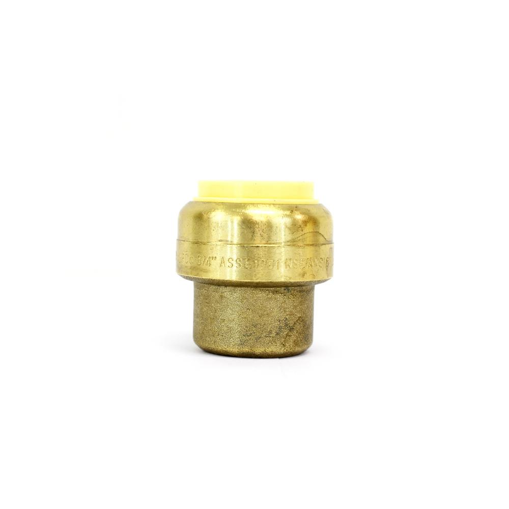 1/2 in. Brass Push Connect Plumbing Fitting End Stop Pack (10-Pack)