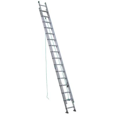 32 ft. Aluminum D-Rung Extension Ladder with 225 lb. Load Capacity Type II Duty Rating