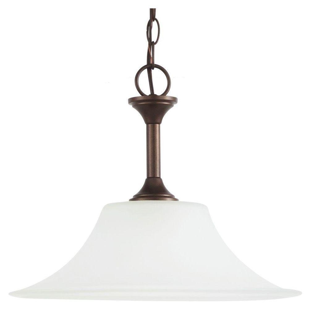 Holman 1-Light Bell Metal Bronze Pendant