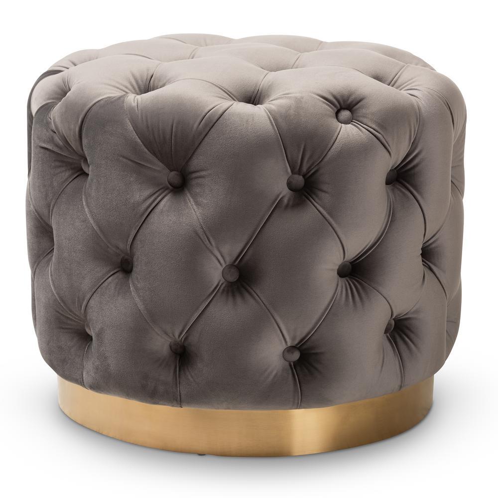 Super Baxton Studio Asuka Taupe Pouf Ottoman 158 9711 Hd The Theyellowbook Wood Chair Design Ideas Theyellowbookinfo