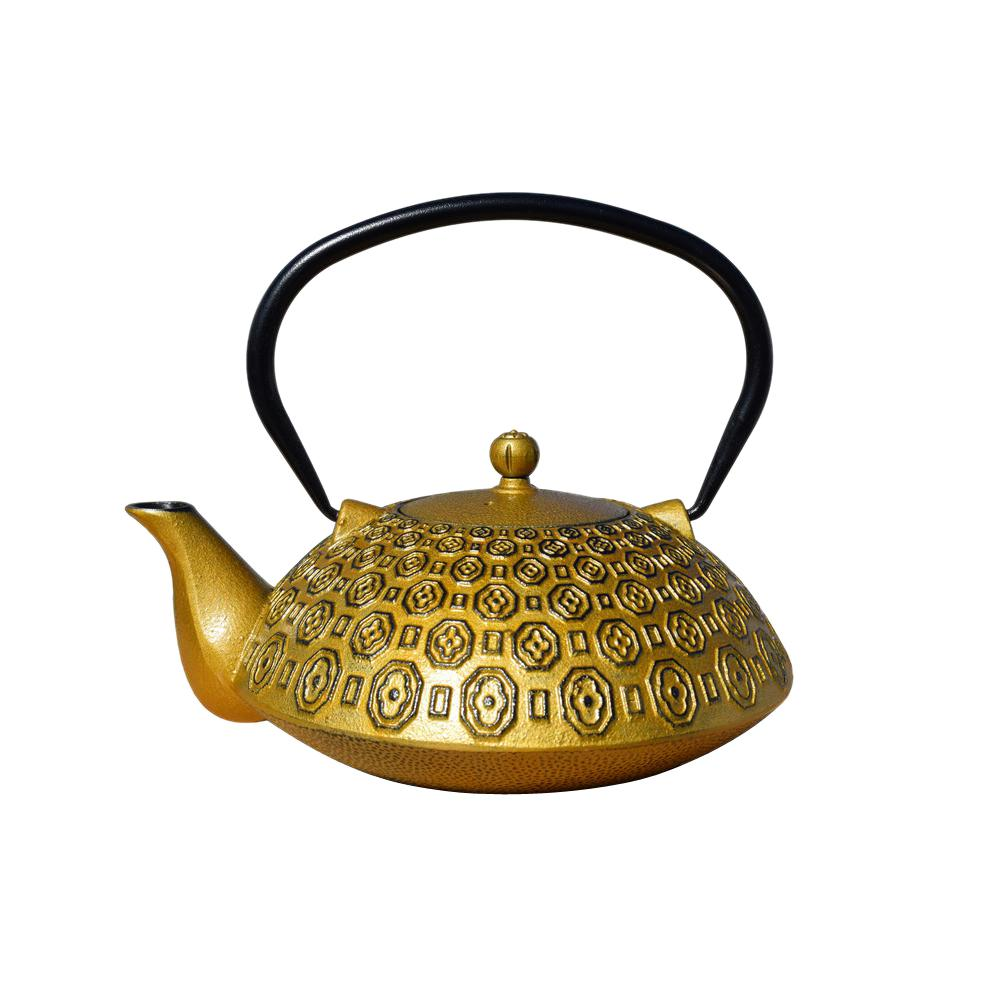 Ritchi 5 Cup Teapot In Gold And Black, Gold/black