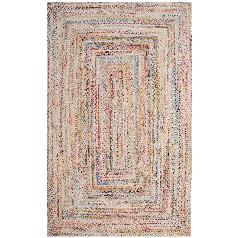 Safavieh Braided Ivory Multi 5 Ft X 8 Area Rug
