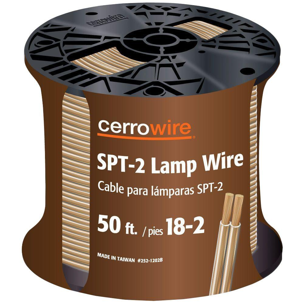 Cerrowire 50 ft. 18/2 Clear Stranded Lamp Cord