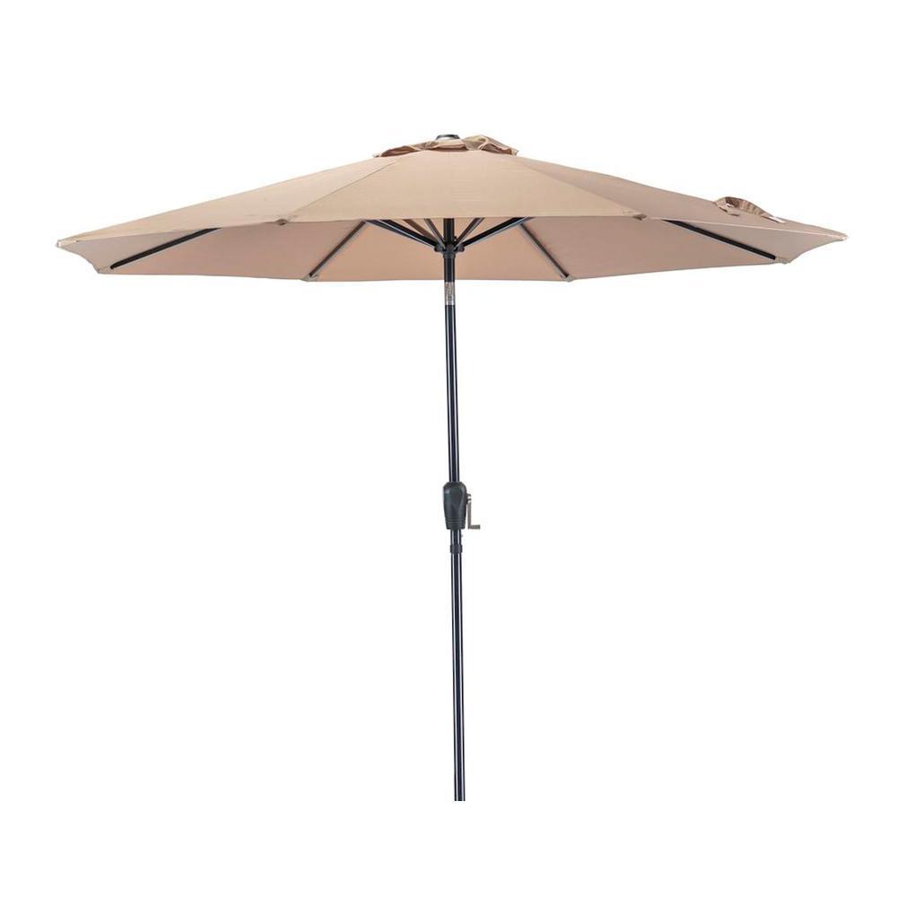 8d93e243d4a7b Patio Premier 9 ft. Round Market Patio Umbrella in Taupe-241006 ...
