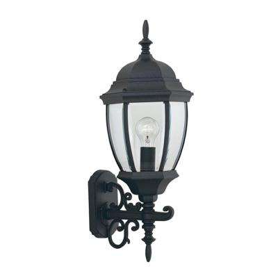 Hallowell Collection Black Outdoor Wall-Mount Lantern