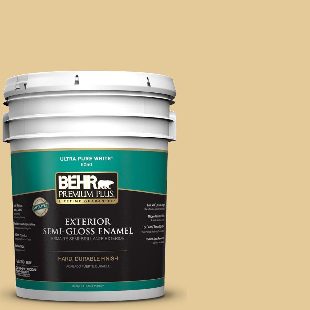 BEHR Premium Plus 5-gal. #M320-4 Abstract Semi-Gloss Enamel Exterior Paint