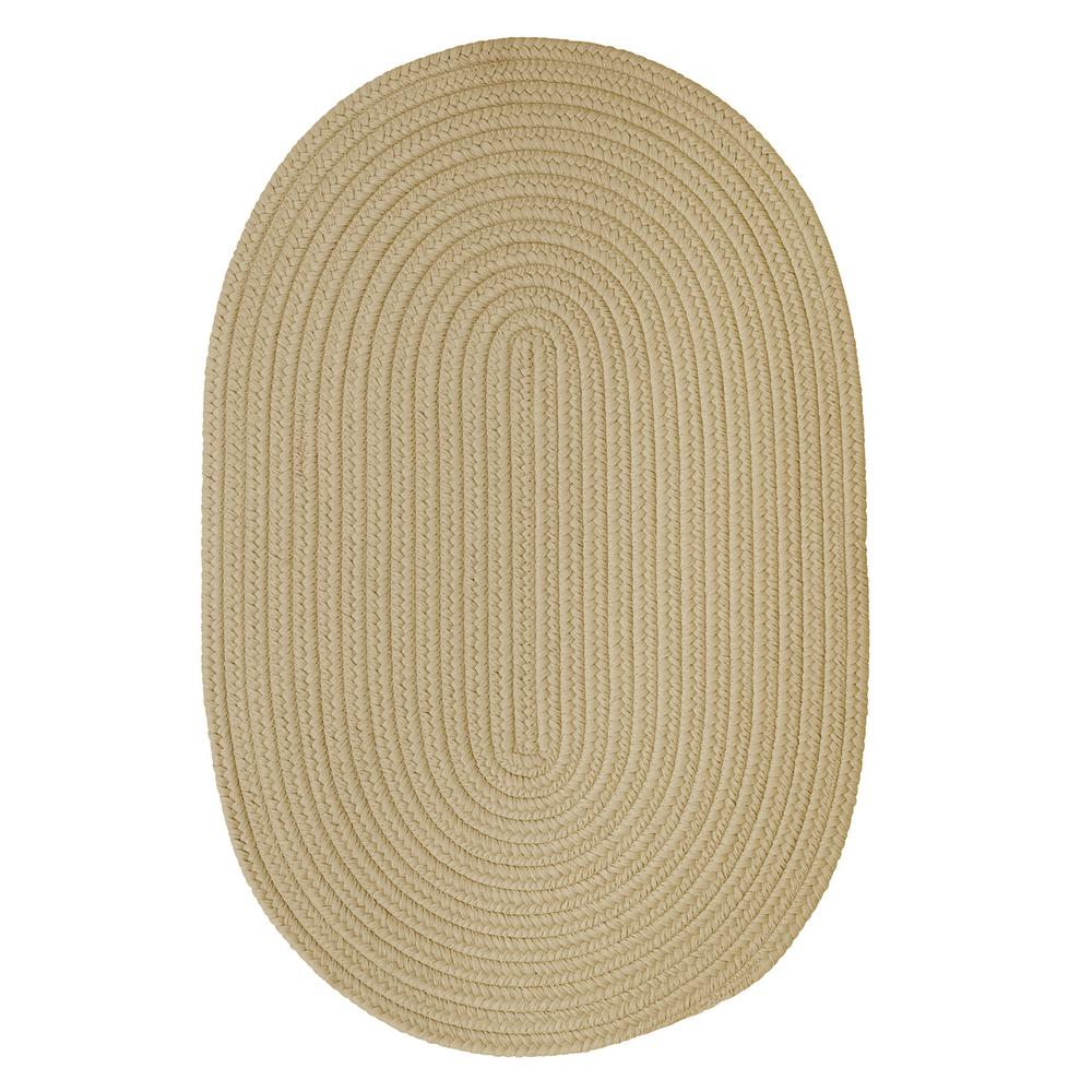 Trends Linen 4 ft. x 6 ft. Braided Oval Area Rug