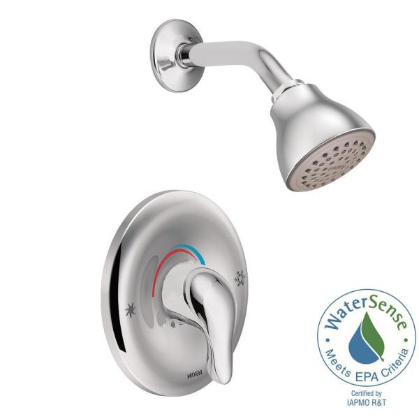 Chateau Single-Handle 1-Spray Shower Faucet with Valve in Chrome (Valve Included)