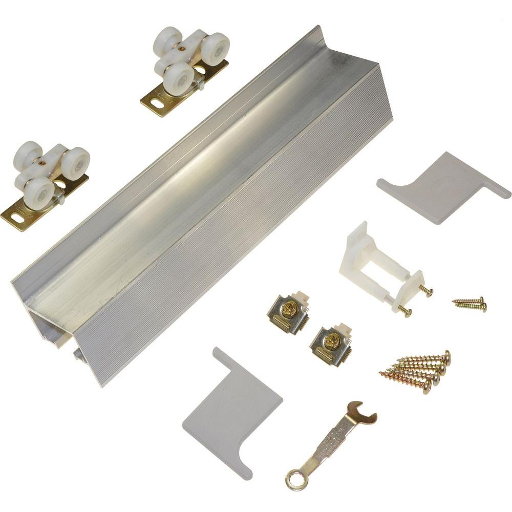 Johnson Hardware 72 in. Wall-Mounted Door Hardware Set-2610F721 ...