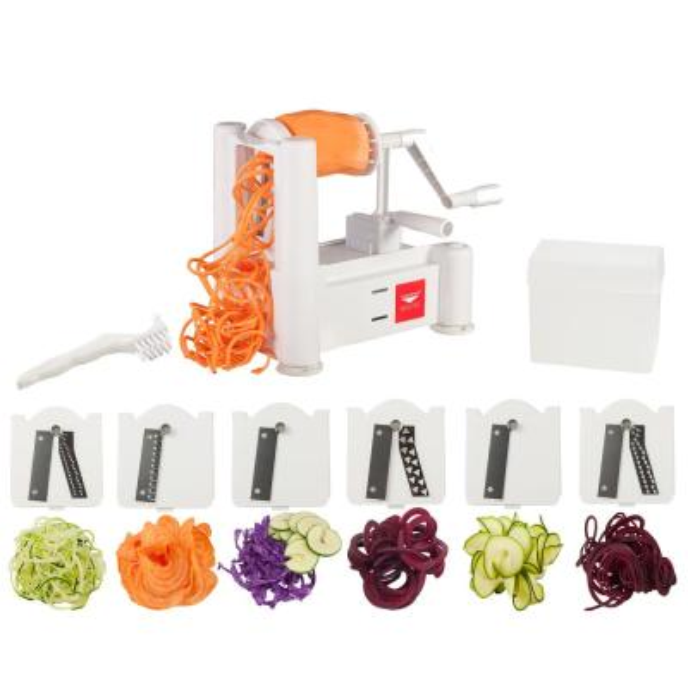 6-Blade Vegetable Slicer/Spiralizer with Cleaning Brush