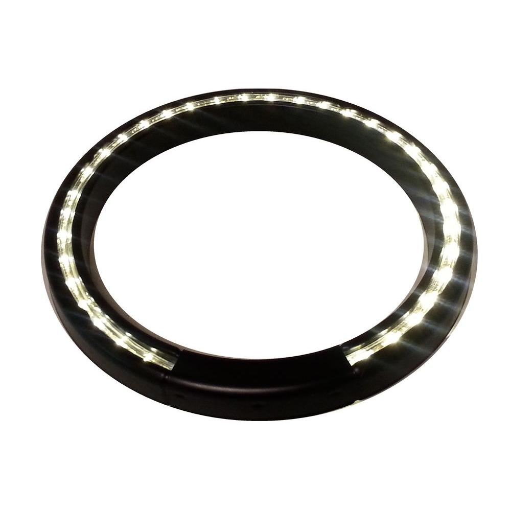 13 in. Black Lighted LED Halo Ring Indoor/Outdoor Planter Accessory