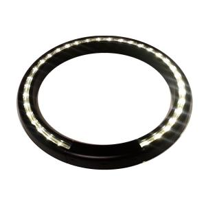 13 inch Black Lighted LED Halo Ring Indoor/Outdoor Planter Accessory