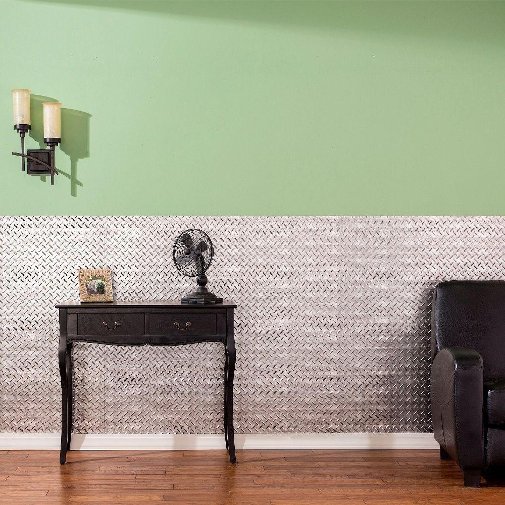 Diamond Plate 96 in. x 48 in. Fern Vinyl Decorative Wall