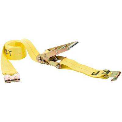 27 ft. x 4 in. Flat Hooks Heavy Duty Ratchet