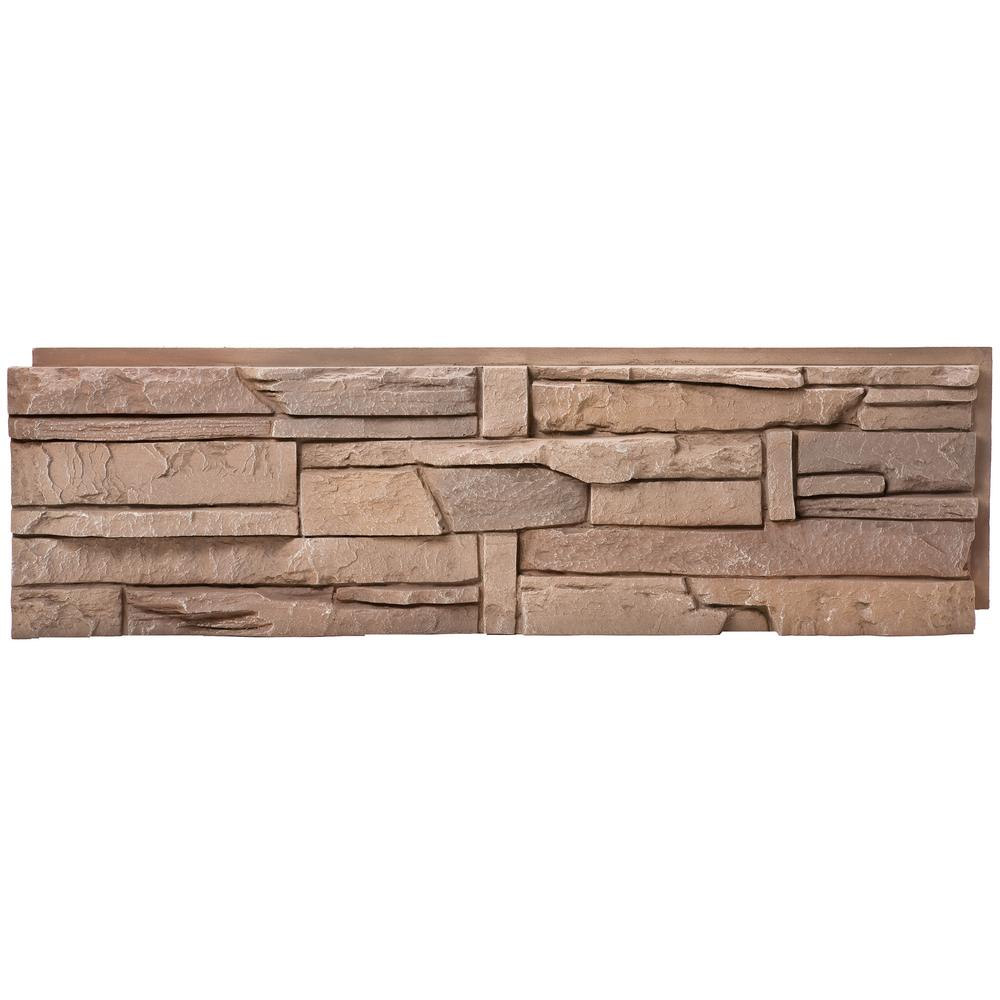 Stacked Stone Desert Sunrise 12 in. x 42 in. Faux Stone