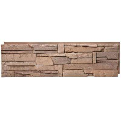 Stacked Stone Desert Sunrise 12 in. x 42 in. Faux Stone Siding Half Panel